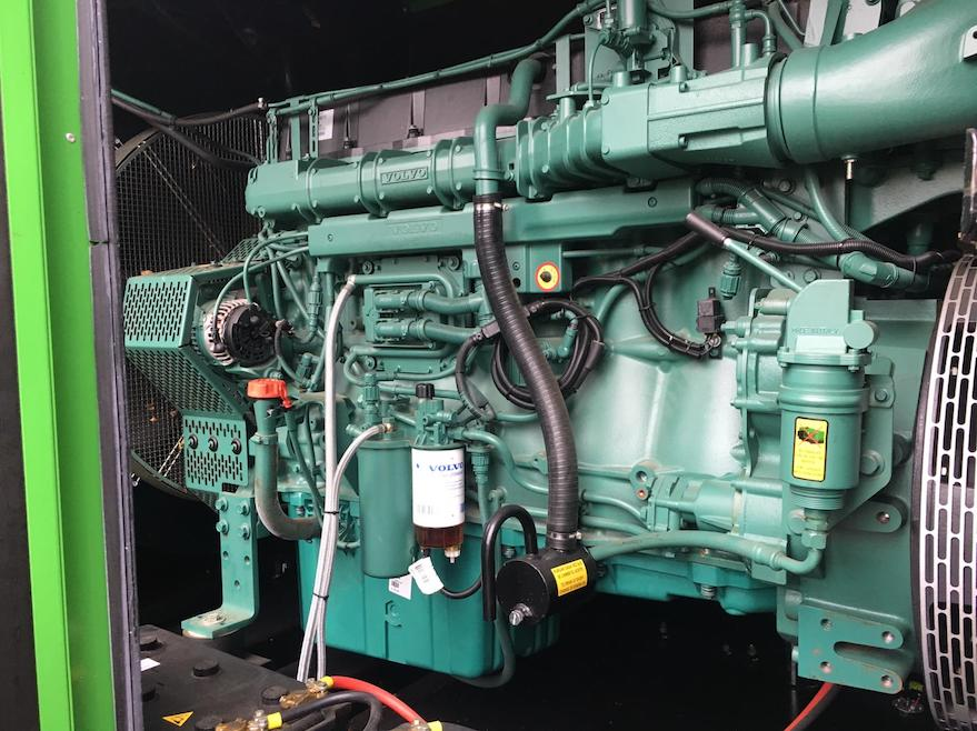 backup Diesel generator set providing backup power for a conference center