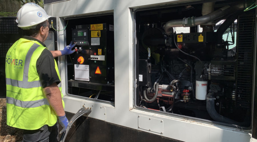 Standby Generator being serviced by one of Standby Power Solutions engineers.