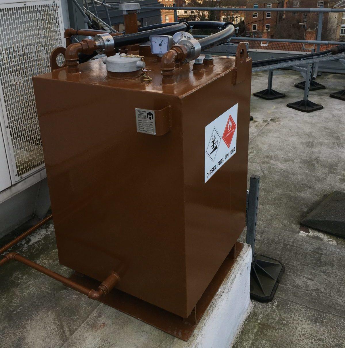 fuel tank roof install